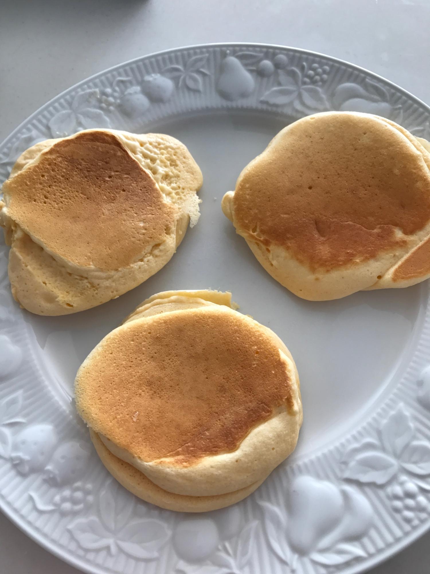 メレンゲで作る♪ふかふかパンケーキ レシピ・作り方