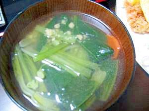 野菜とコンソメスープ