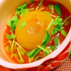 丸ごと玉葱の中華風トマトあんかけ