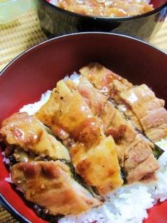 激ウマ♪豚バラ蒲焼丼【鰻リスペクト】