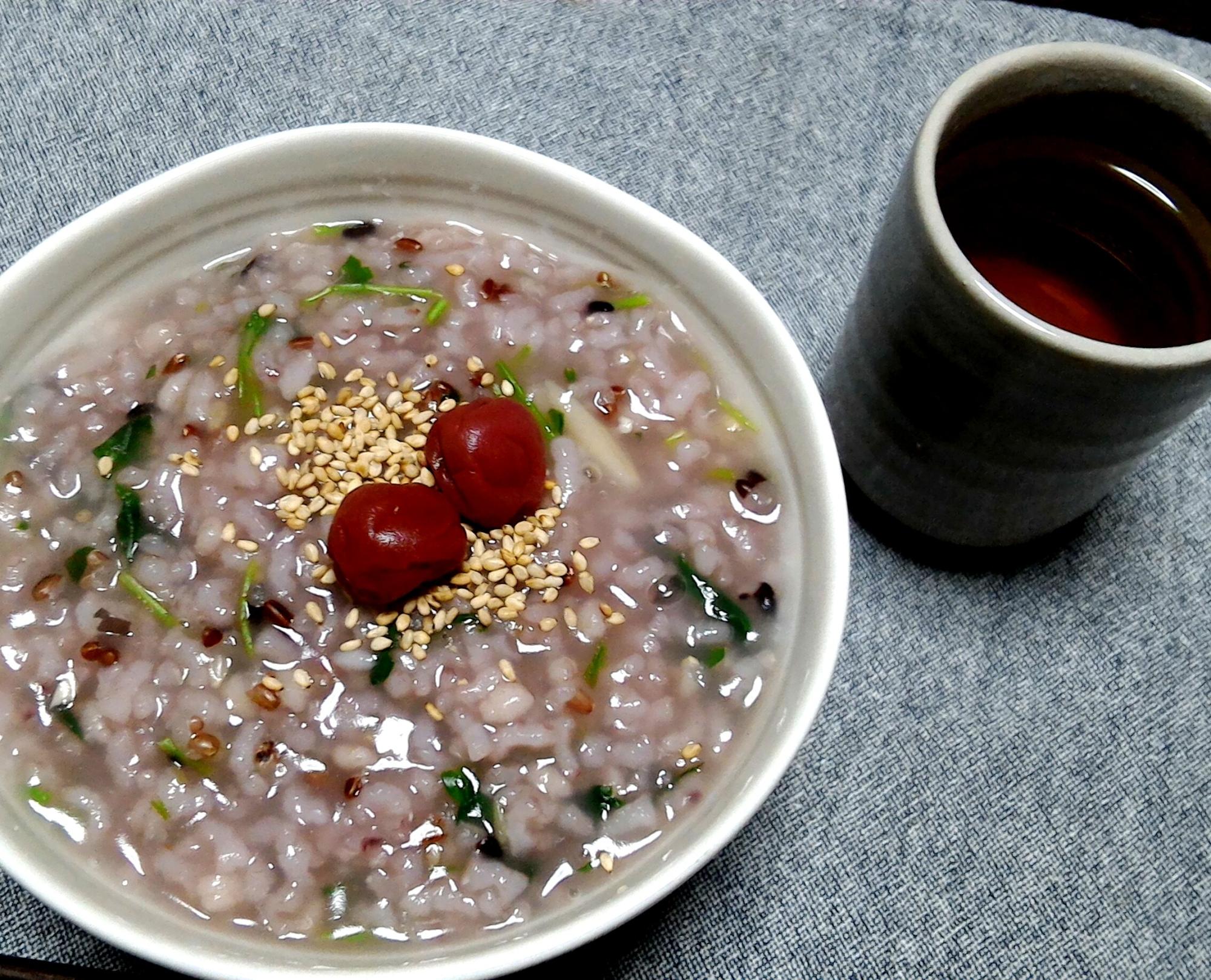 赤米と雑穀の七草粥☆炊飯器使用 レシピ・作り方