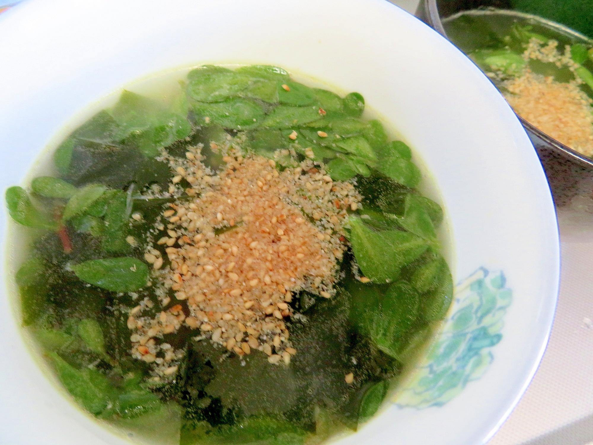 1. スベリヒユの韓国風スープ