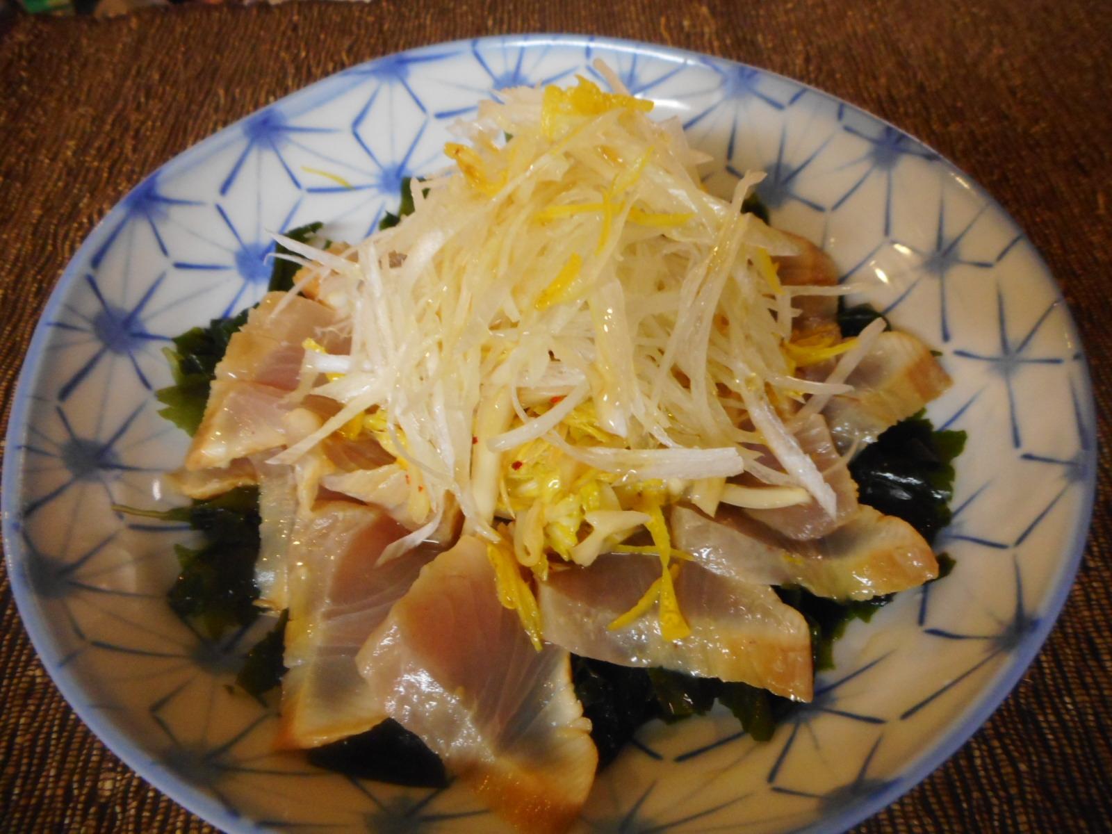 5. カンパチと白菜のゆず風味サラダ