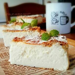 簡単、節約♪濃厚ミルキーホワイトチーズケーキ