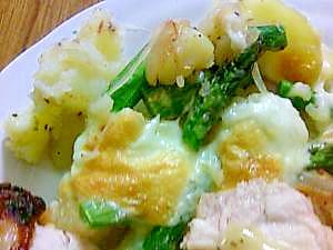 ジャーマンポテト風チーズ焼き-お肉料理の副菜に。