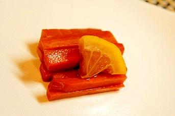 週末作り置き常備菜、にんじんのレモン醤油漬け