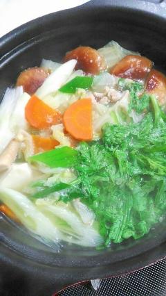 鶏もも肉と極みつゆで美味しいお鍋