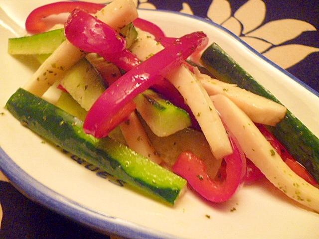 イタリアンカラーの簡単サラダ