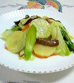 ヤーコンを入れた、「ゆずすこ」野菜炒め♪