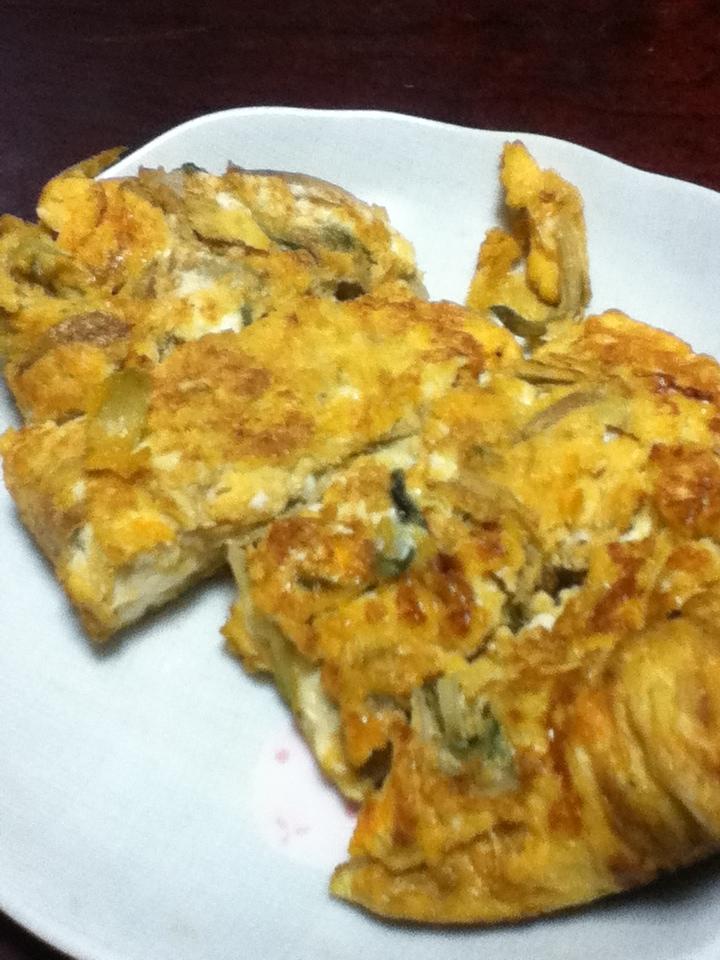 ミョウガと高菜の卵焼き