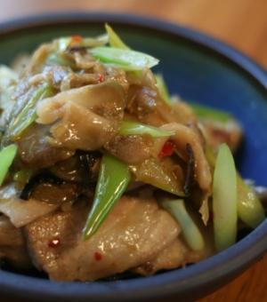 味付けザーサイと豚肉の炒め物 レシピ・作り方