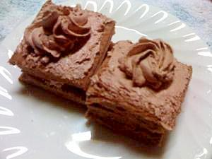 チョコ食パンで簡単チョコレートケーキ★バレンタイン