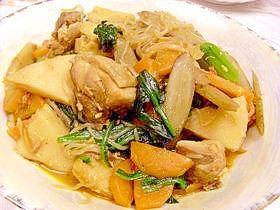 2. ほっこり!生姜味噌で煮込む鶏ごぼう