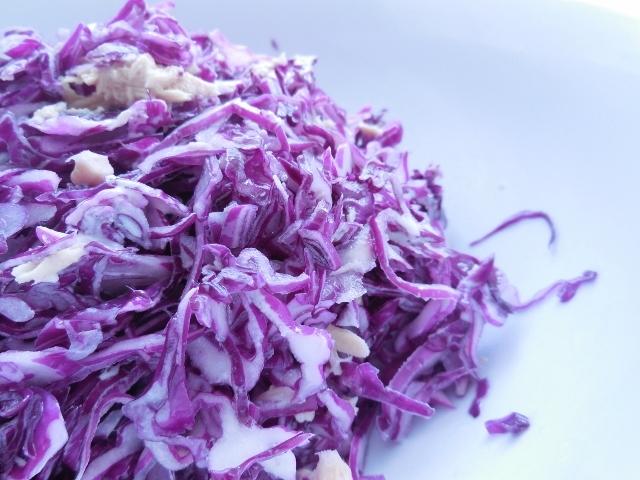 お通じバッチリ紫キャベツのモリモリサラダ