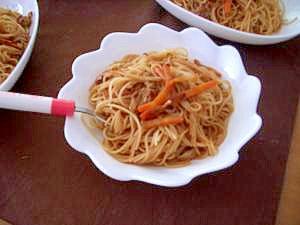 スパゲティde焼きそば