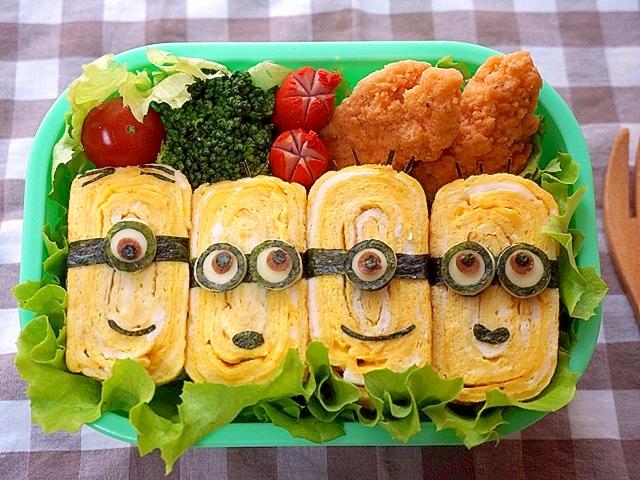 卵のお寿司でミニオン弁当