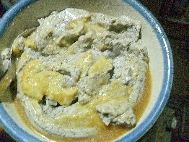 蒸しごま豆腐のわさび和え