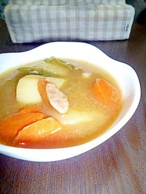 いつもの野菜スープ。コンソメ風味