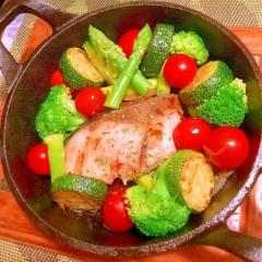 彩り野菜とぶりマリネのオイル煮