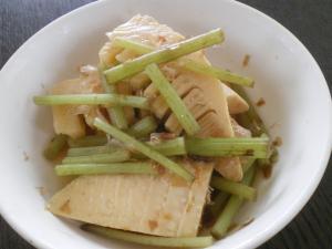 筍と蕗の炊き合わせ