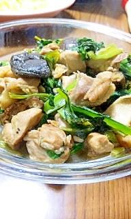 鶏と干し椎茸の中華風煮込み♪