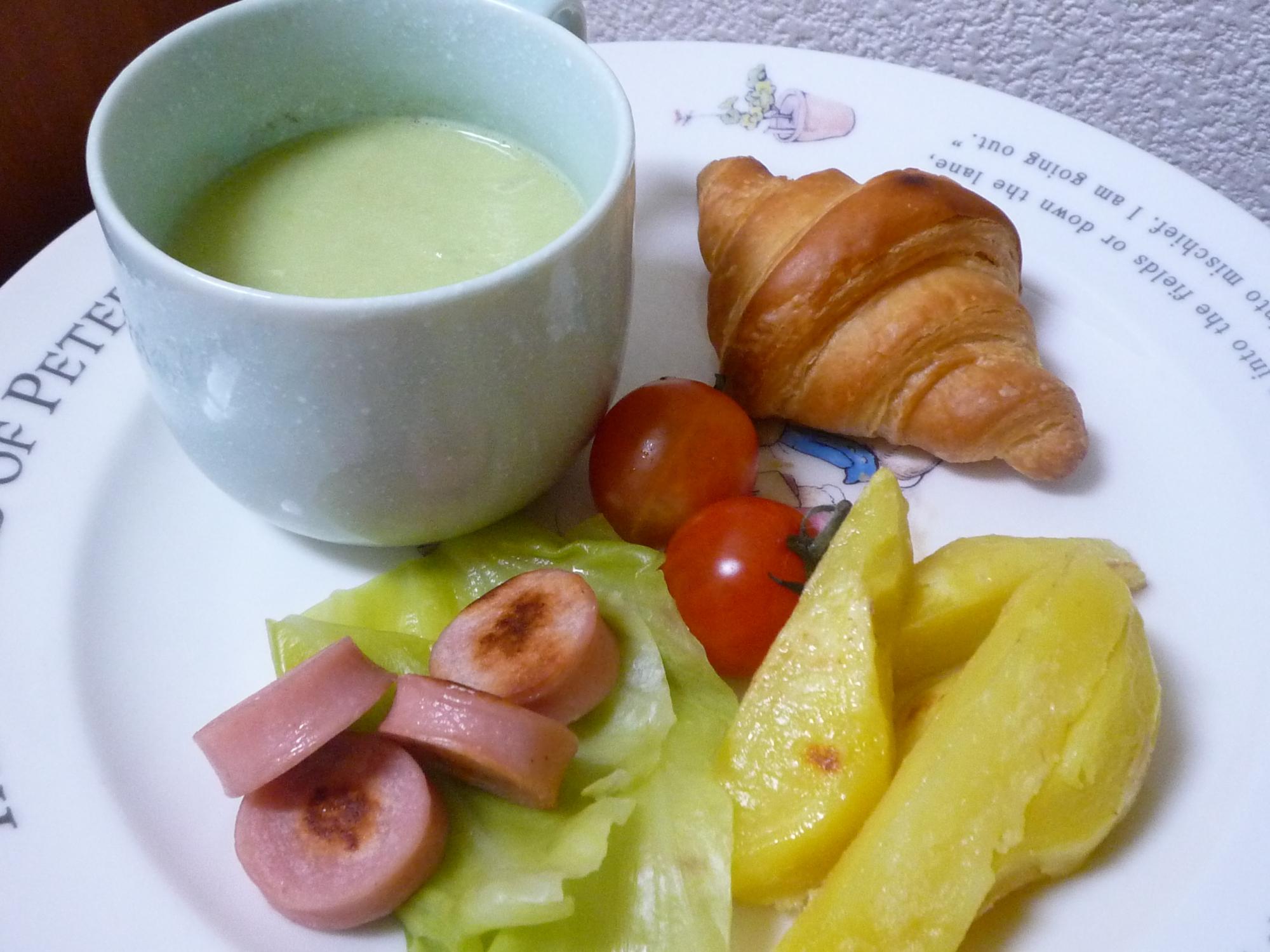 アボカドスープのワンプレート