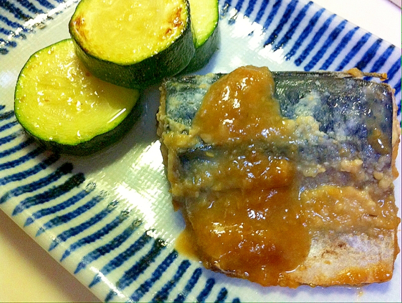 鯖の塩麹味噌煮