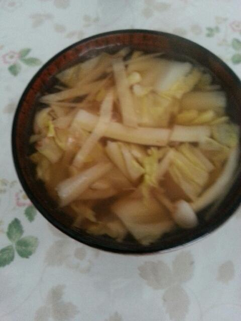 ポカポカしょうがと白い具材味噌汁