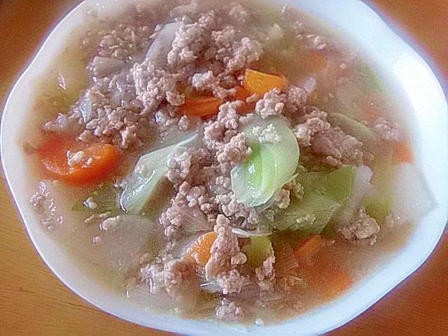 冬野菜の中華風炒め煮