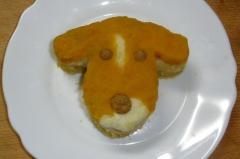 【犬用】わんこの顔のベジタブルケーキ