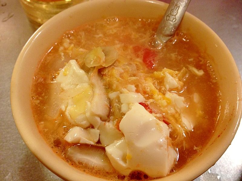 2日目スープ簡単アレンジ★なんちゃってサンラータン