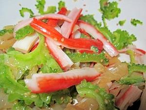 ゴーヤと中華クラゲのサラダ