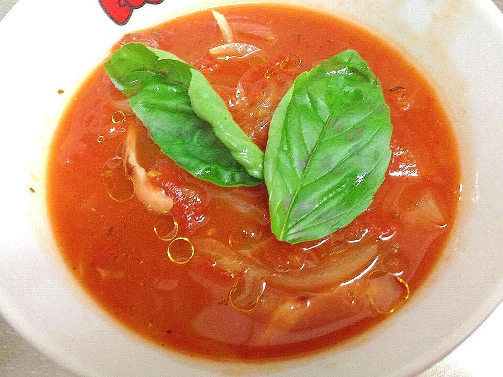 ★便秘解消★温トマトベーコンスープ