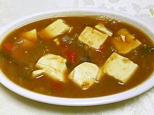 お豆腐を、野菜たっぷりの