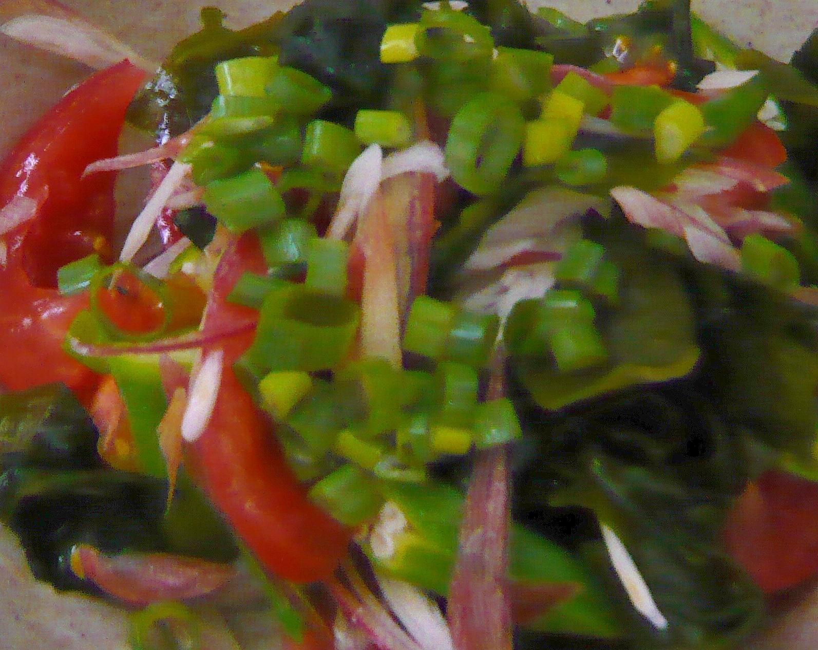 薬味たっぷり!トマトとわかめのサラダ