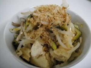 冷たくてもおいしい♪高野豆腐入りゴーヤチャンプル☆