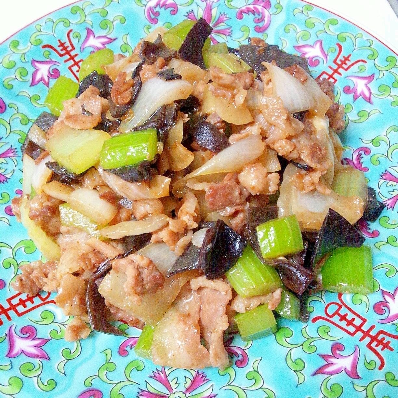 豚肉とセロリの中国家庭料理風