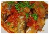 魚と肉のマヨネーズトマト炒め
