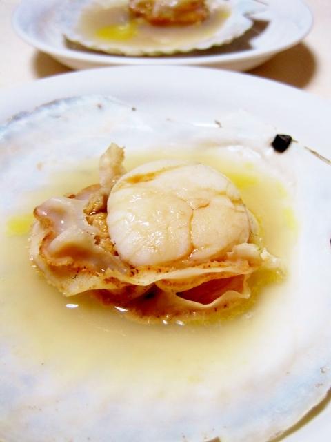 1. フライパンで簡単♪ ホタテの殻焼き