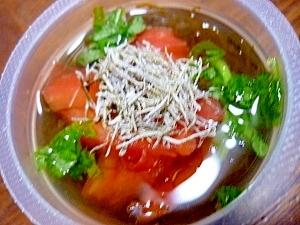 大葉&トマト&納豆昆布のもずく酢**
