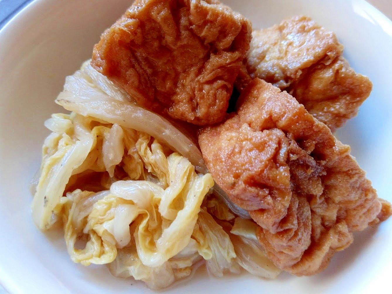 白菜と厚揚げの煮たき物