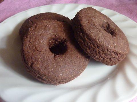 しっとりミルクココアの焼きドーナッツ