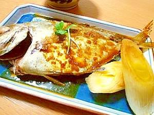 ヒラアジのオイスター生姜煮