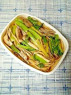 ☆小松菜と舞茸のパスタ弁当☆