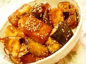 ご飯が進む厚揚げと茄子の味噌たれ炒め