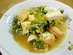 1.厚揚げと小松菜とちりめんじゃこの煮物
