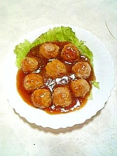 ☆甘酢あんかけトマト肉団子☆