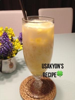 豆乳スムージー☆オレンジ&バナナ