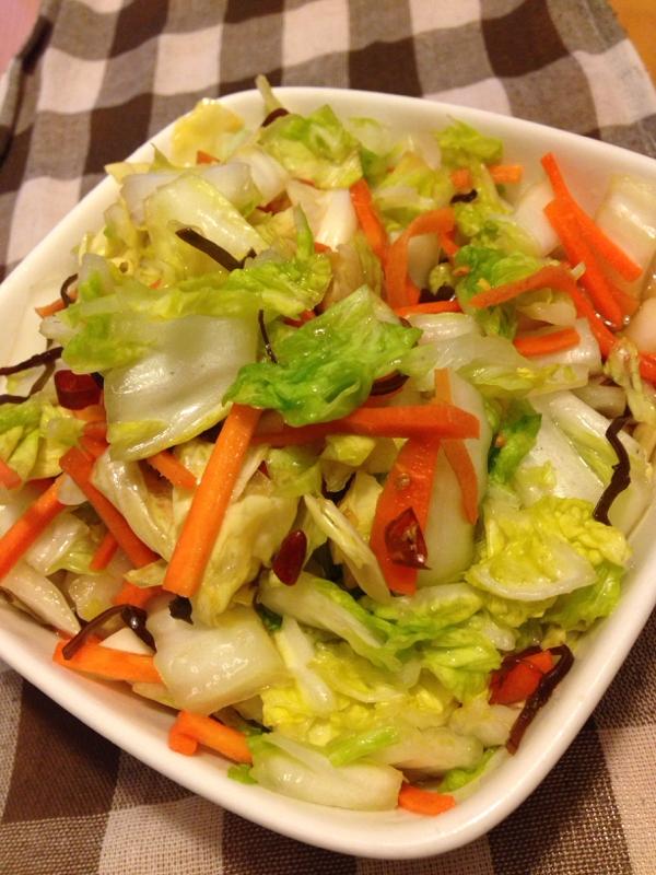 簡単白菜の浅漬け
