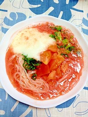 トマトドリンクとスイカの血圧ソーメン